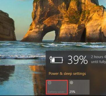 battery saver mode windows 10