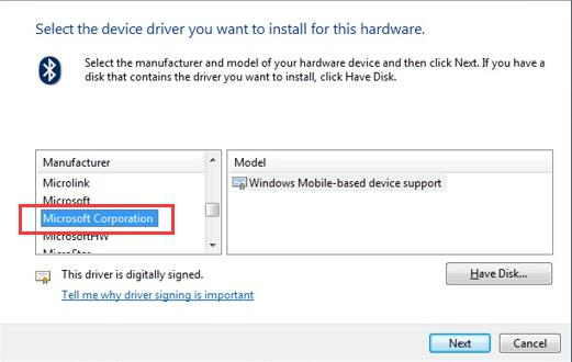 microsoft corporation windows mobile-based device support