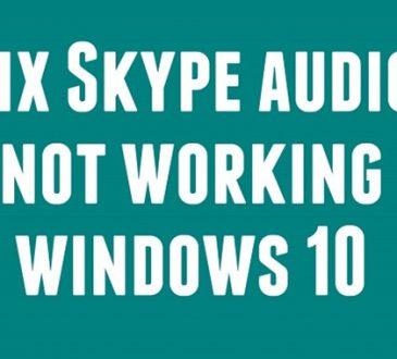 skype audio not working