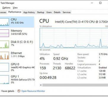 check cpu usage