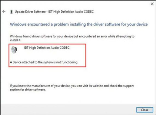 Fixed Idt High Definition Audio Codec Driver Not Working Windows 10 8 7