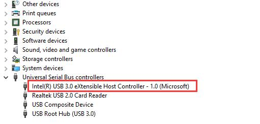 intel usb 3.0 extensible host controller