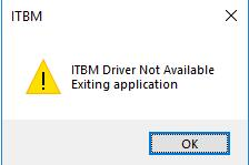 itbm driver not available