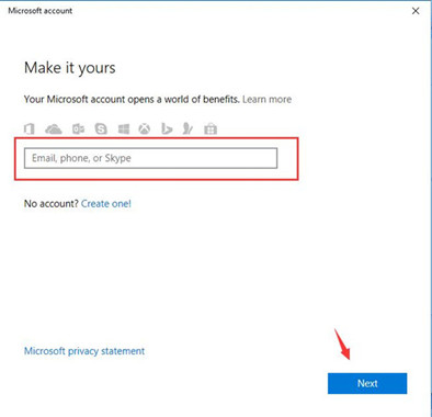 make your microsoft account