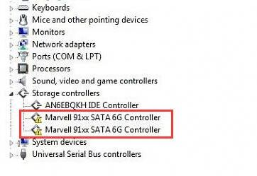 marvell91xx controller driver issue