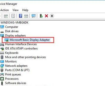 microsoft basic display adpater driver