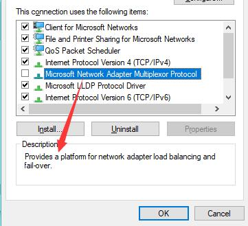 microsoft network adapter multiplexor protocol