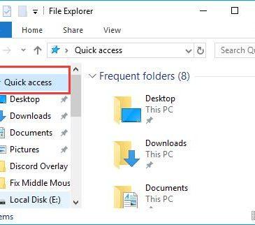 quick access problems