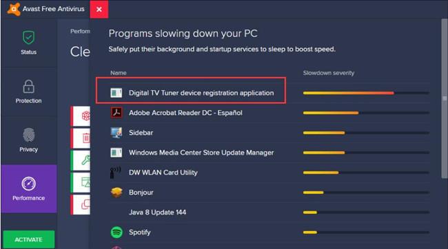 should i remove digital tv tuner device application registration