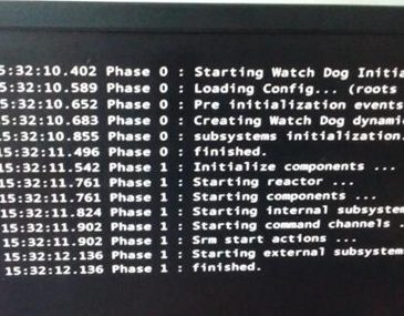 start watchdog initialization black screen