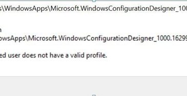 the specified user does not have a profile