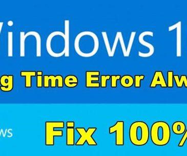 time always wrong windows 10