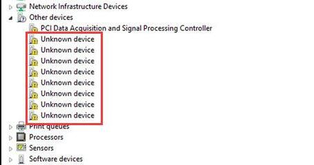 unknown device driver issue