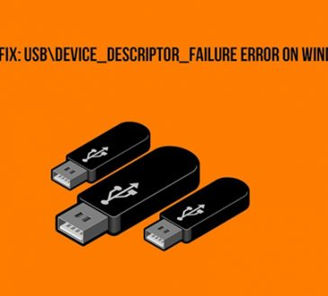 usb device descriptor failure