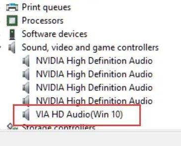 via hd audio not working