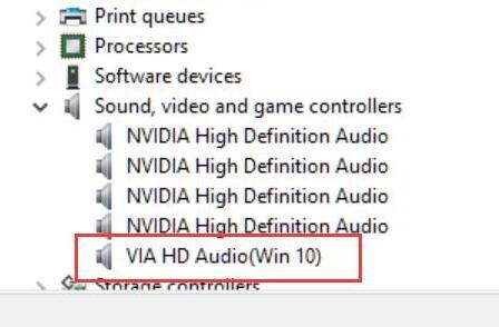 via hd audio not working