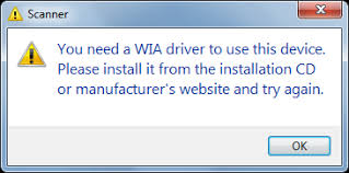 wia driver is need to use this device