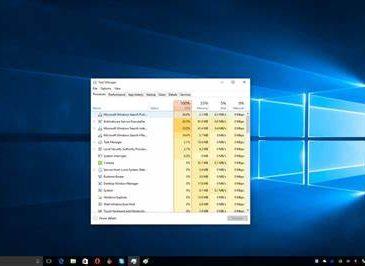 windows 10 high cpu usage