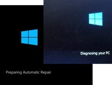 windows 10 stuck in diagnosing your pc