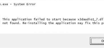 x3daudio1_7.dll file missing