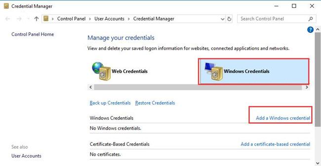 add a windows credential