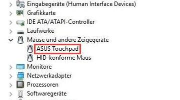 asus touchpad
