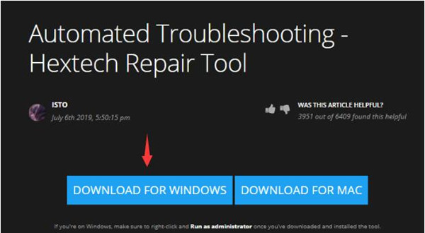 download hextech repair tool