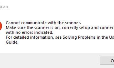 epson scan cannot communicate with the scanner