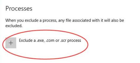 exclude a.exe or scr process