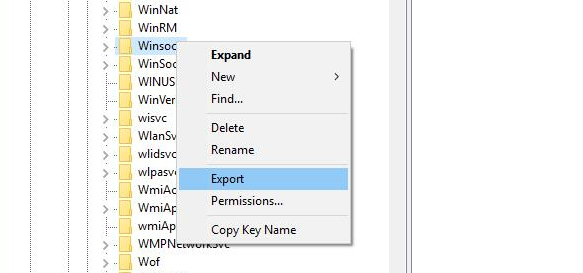 export winsock and winsock2