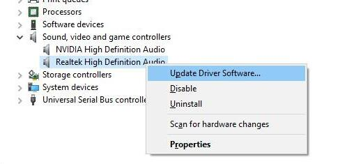 update realtek audio driver