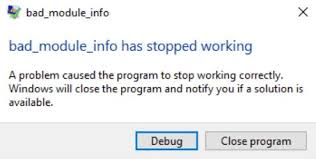 bad module info