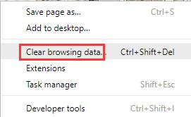 clear browsing data google chrome