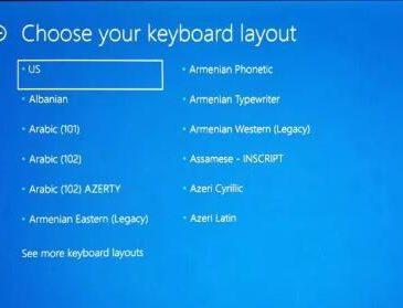 windows 10 stuck at choose your keyboard layout