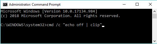 clear clipboard with command prompt