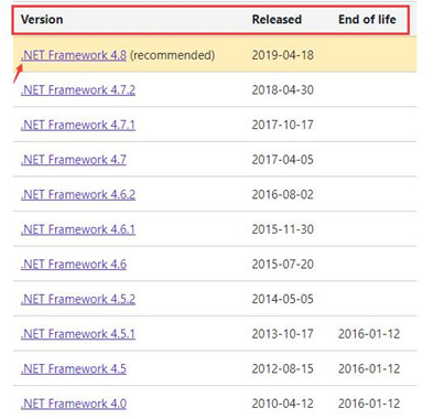 download microsoft .net framework