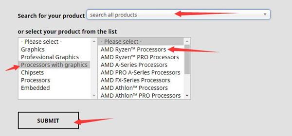 select amd cpu model