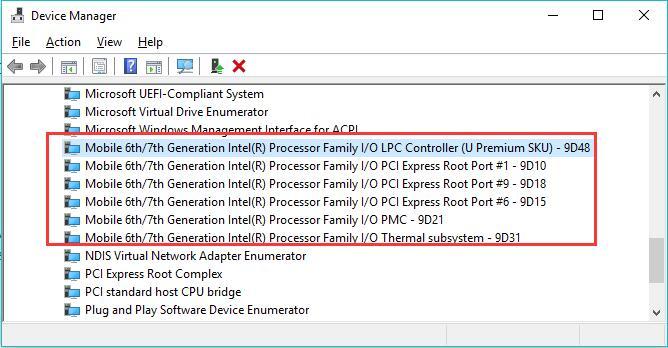 update intel chipset driver