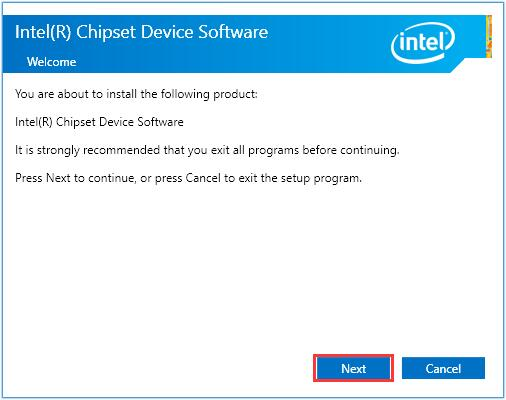 intel chipset device software next