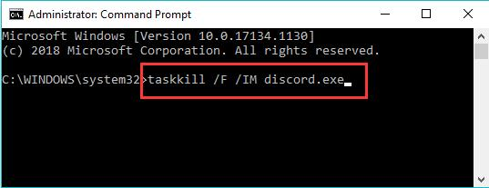 kill discord in command prompt