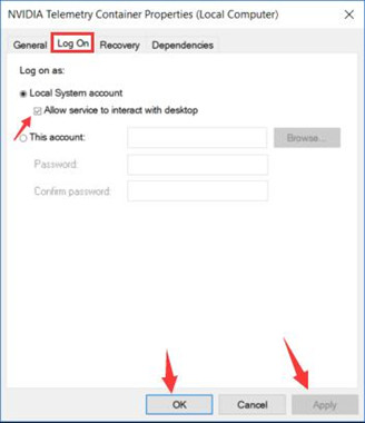 allow nvidia telemetry container to interact with the desktop
