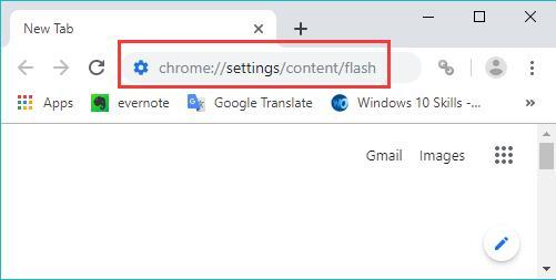 chrome settings content flash
