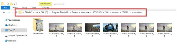 file explorer steam screenshot folder