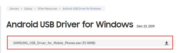 download android samsung usb driver for windows 10