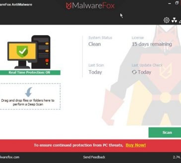 malwarefox anti-malware interface