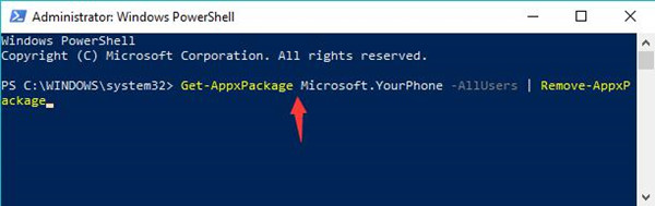 uninsstall your phone from windows 10
