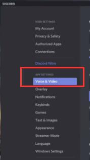 voice and video on discord