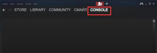 console in steam