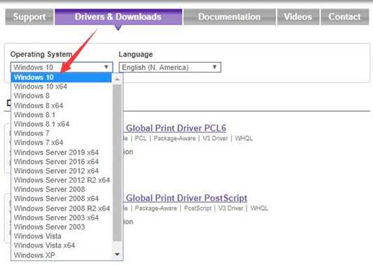 drivers and downloads on xerox official site