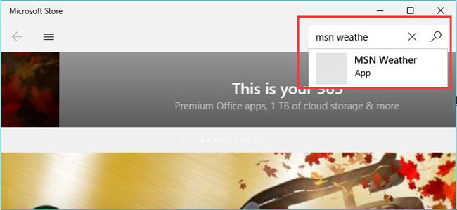 msn weather download in microsoft store